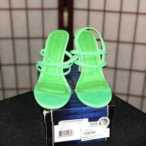 BOOHOO strapping Neón heels